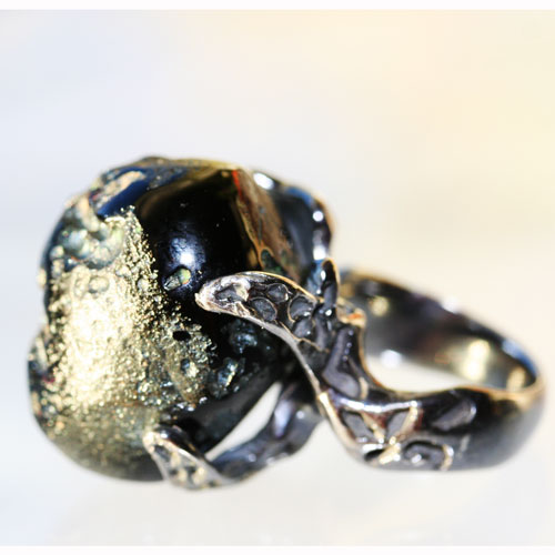 Meteorite ring side view