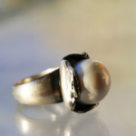 handmade Exclusive silver pearl ring