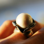 Giant Sweet water pearl ring